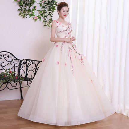 Flower Vine Fairy Cosplay Ball Gown Medieval Dress Cartoon Princess