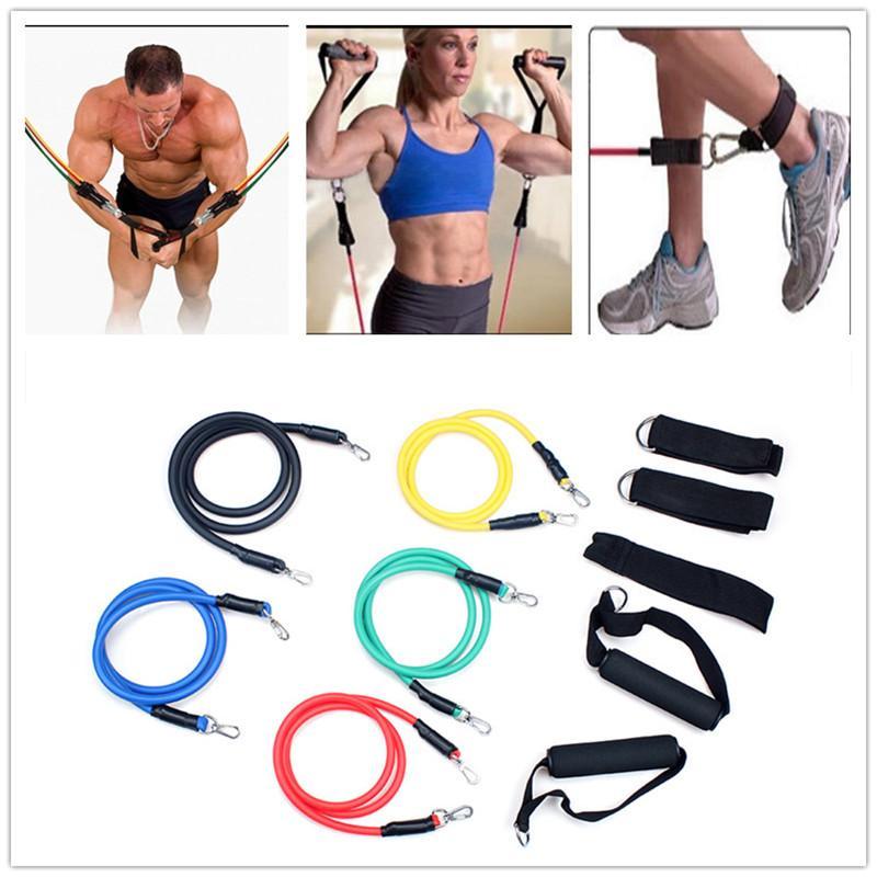 5 Lateks Erkekler Ve Kadınlar Çekme Halatı Direnç Bantları Egzersiz Tüp Egzersiz Gym Yoga Spor Streç Abs