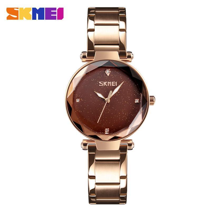04599557fff Compre SKMEI Mulheres Relógio De Quartzo Elegante Top Marca De Luxo  Senhoras Casuais Simples Relógio De Pulso Das Mulheres De Aço Inoxidável  Relogio ...