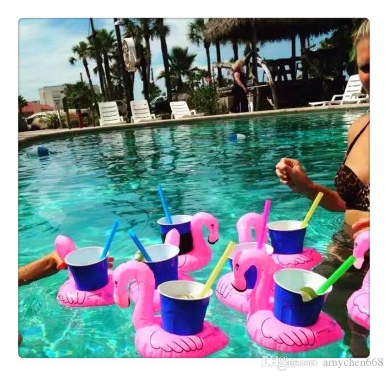 Şişme İçecek Kupası Tutucu İçecek Tekneler Parti Telefon Tutucu Donut Flamingo Karpuz Limon Şekilli Yüzen Havuz Oyuncaklar