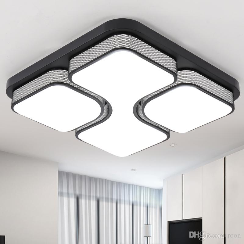 Back To Search Resultslights & Lighting Ceiling Lights Hot Sale Modern Remote Control Surface Mounted Ceiling Lamp Square Led Panel White/black For Bathroom Lighting Ac110-240v Luminarias Para