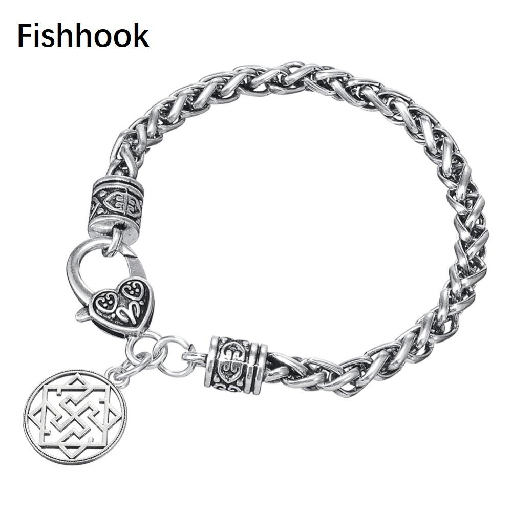 Fishhook Exquisite Hollow With Valkyrie Symbol Pagan Amulet Knot