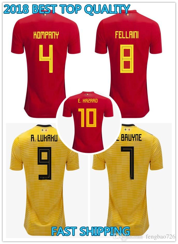 2019 2018 World Cup Belgium Home Away Men S 18 19 Soccer Jerseys Hazard De  Bruyne Futbol Camisa Belgique Football Camisetas Shirt Kit Maillot From ... dff75c45d