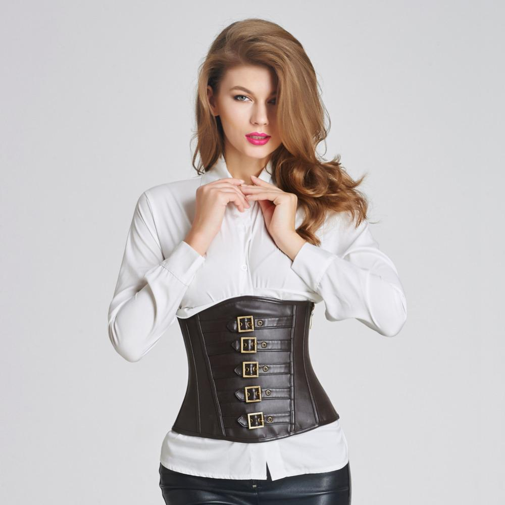 6c68878758 2019 Wonder Beauty Lack Red Faux Leather Corsets Steampunk Corset Steel  Boned Lace Up Back Sexy Gothic Bustier Overbust Corselet B From Stepheen