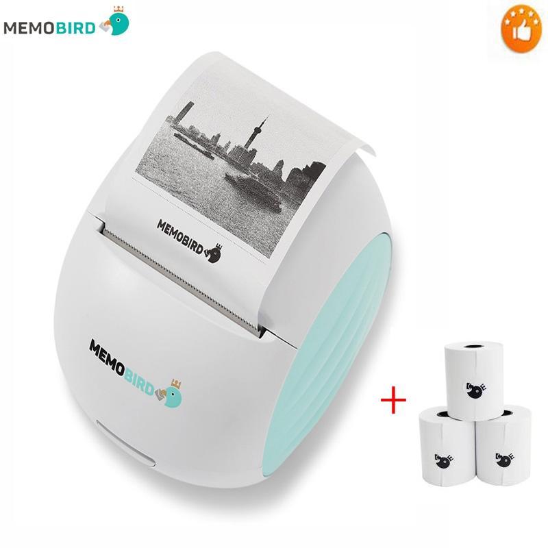 new printer memobird g2 wifi portable printer barcode wireless photo