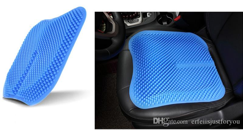New Car Auto Blue Silicone Mesh Seat Cushion Caover Protector Massage High Memory Breathable Silica Gel Covers Fit For Toyota Jetta Infant