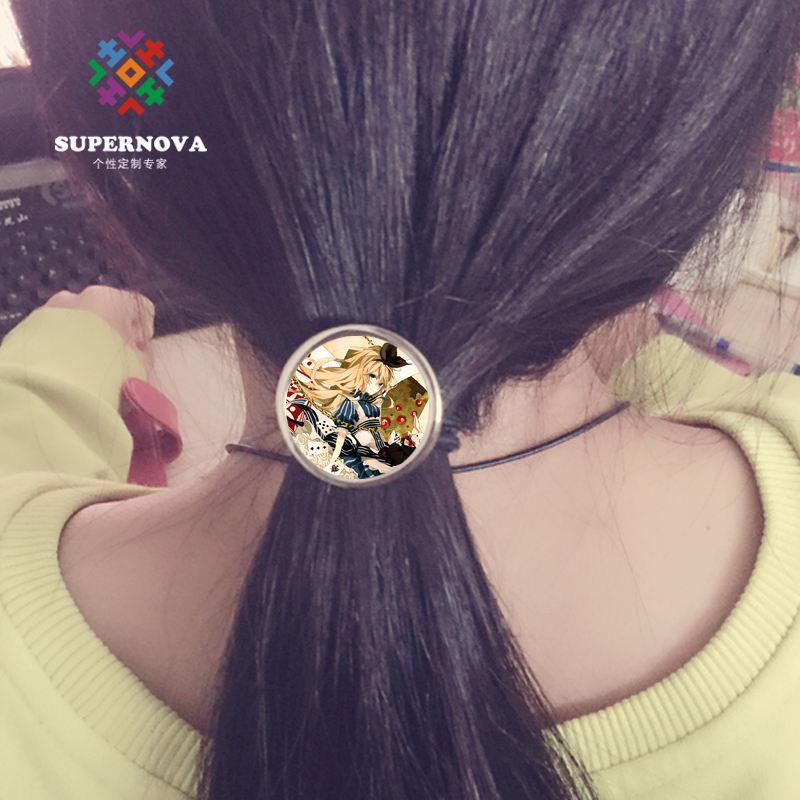 Sublimation blanke Haare Gummibänder Accessoire Mode Haarschmuck Wärmeübertragung blanke Verbrauchsmaterialien DIY blankes Material Verbrauchsmaterial