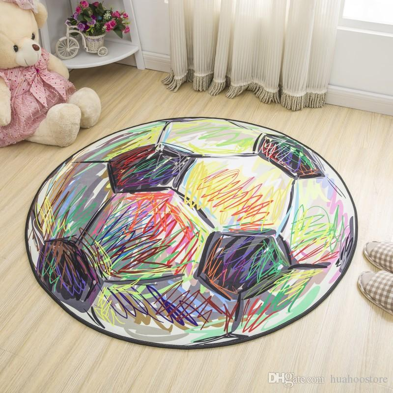 Round Carpet For Kids Bedroom Rug Bedside Floor Mat Lovely Design Cartoon  Rug Carpet Baby Playing Crawling Mat Kids Play Pad Cost Of Carpet Carpet ...