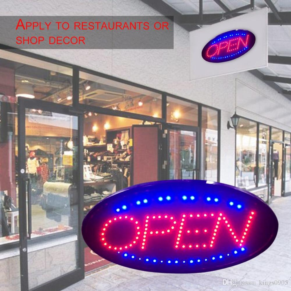 LED Open Sign Werbung Licht Einkaufszentrum Bright Animated Motion Laufen Neon Business Store Shop mit Switch US EU-Stecker