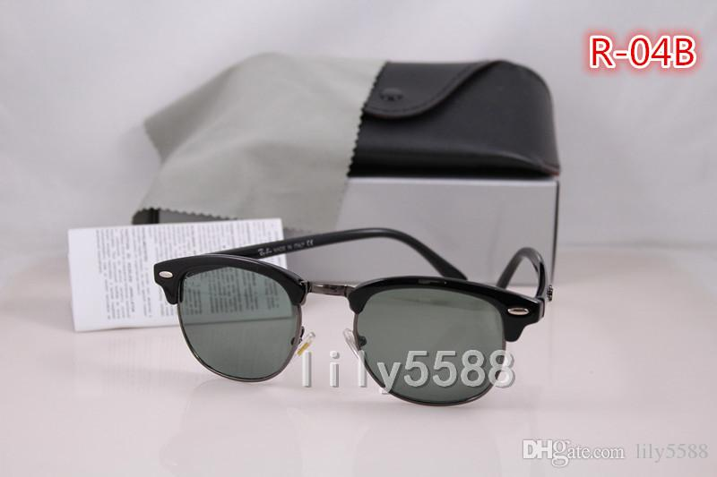 High Quality G15 Glass Material Lens Brand Designer Fashion Sunglasses For Men and Women UV400 Sport Vintage Sun glasses With Original box