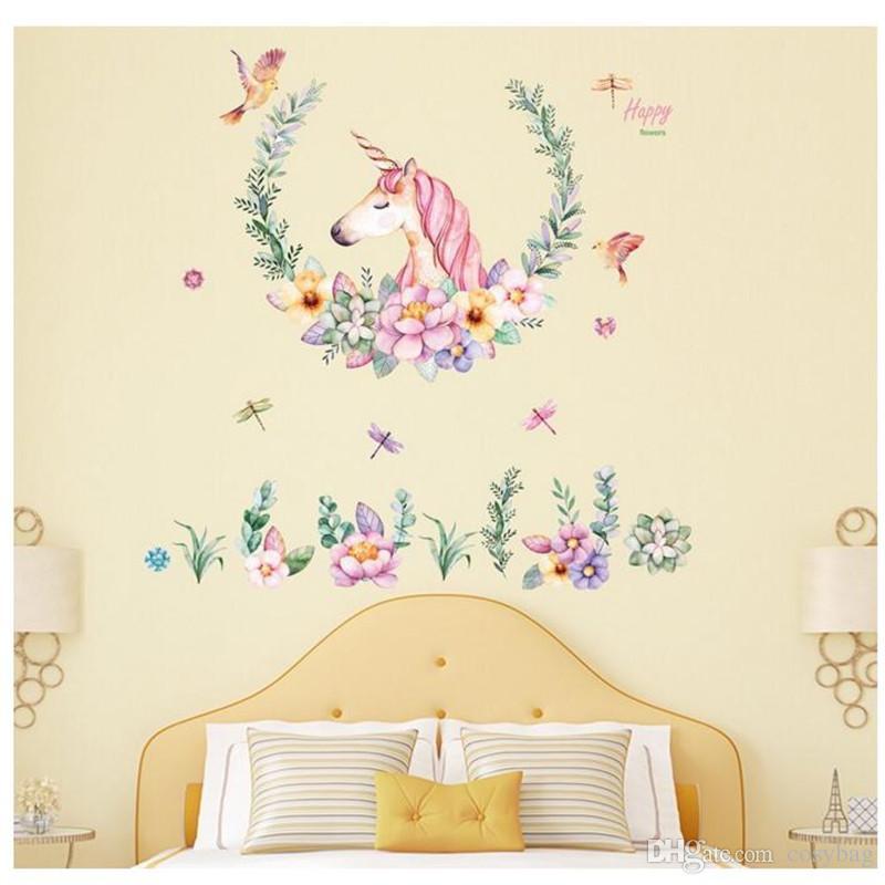 adesivi muro camera da letto bambini  Acquista Adesivi Murali Colorati Animali Da Parete Bambini Camera ...