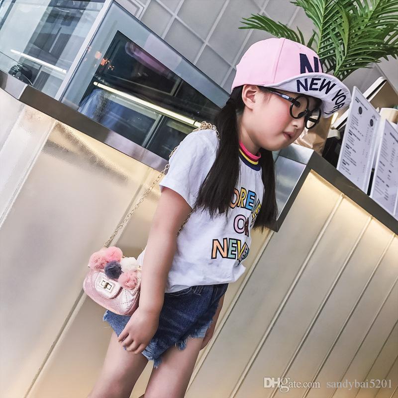 Kids Girls Purse Handbags Baby Girls Flower Chain Messenger Bags Infant Girls Pu Leather Shoulder Bag 2018 Children Bags Accessories D842