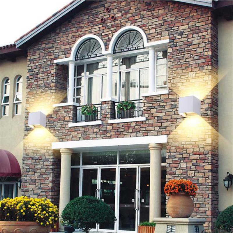 Cubo à prova d 'água COB DIODO EMISSOR de Luz Da Lâmpada de Parede Moderna Casa Iluminação Decoração ao ar livre lâmpada de parede Alpendre Do Jardim Da Lâmpada de Alumínio 7 W AC 110 V 220 V