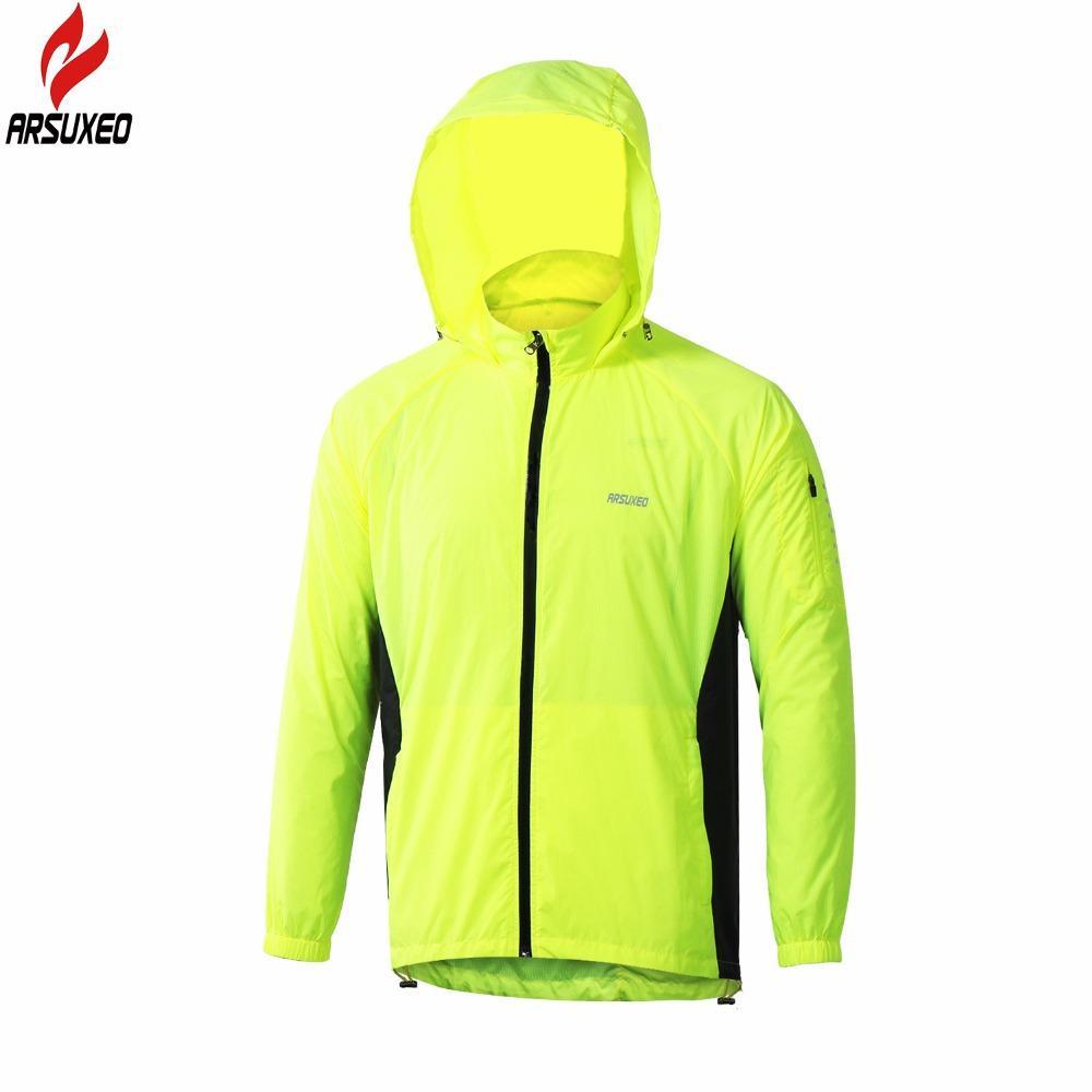 24770de383 ARSUXEO Outdoor Sports Men Run Running Jacket Windproof Waterproof Pack  Cycling Jacket Bike Bicycle Clothing Coat Clothes