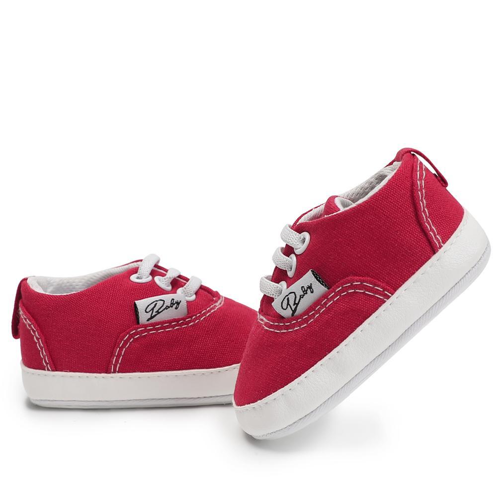 1eaafad83d9 Compre Suela Blanda Zapatos Infantiles Antideslizantes Casual Walker Zapatos  De Bebé Recién Nacidos Primeros Andadores Lienzo Cuero Calzado Para Niños  ...
