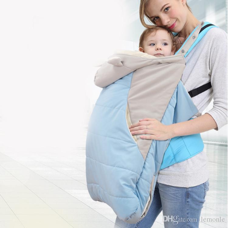 Fiber acolchoado portador de bebê casaco capa outono inverno bebê portador estilingue capa colcha