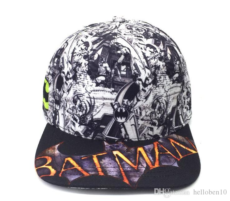 Hot Men Women Batman Punk Brim Snapback Hats Hip-Hop Adjustable Baseball Cap