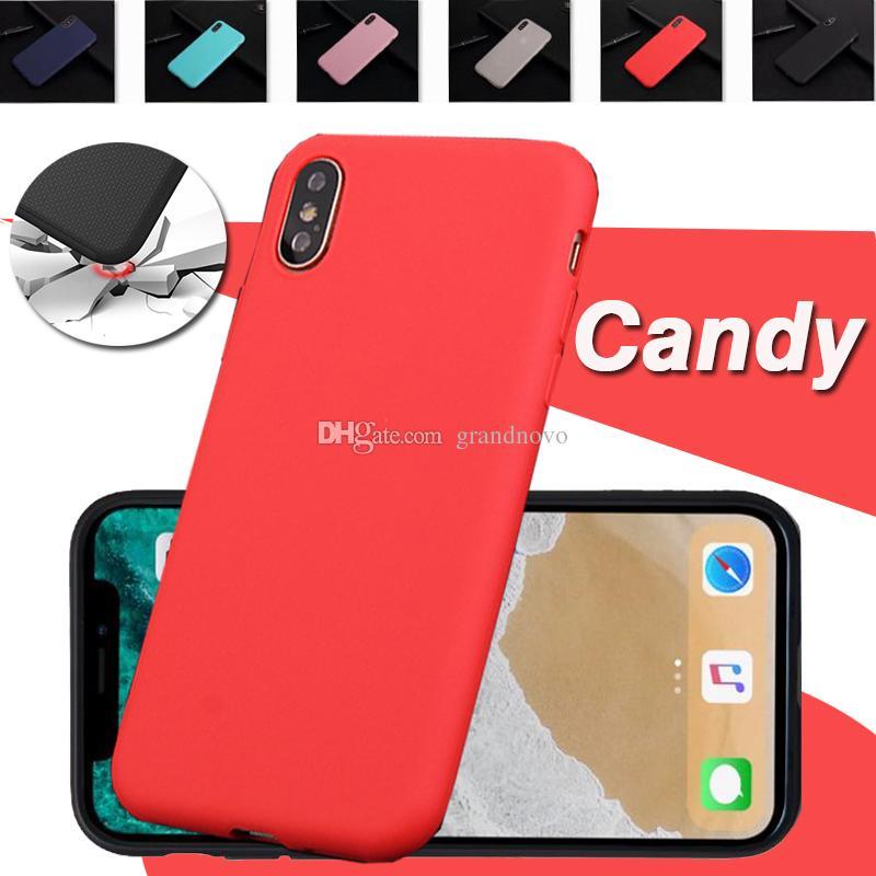 96f31773828 Comprar Fundas Moviles Ultrafino Color Caramelo Mate Mate Tpu Caucho De  Silicona Protección Antichoque Carcasa De La Caja Para El Iphone X 8 7 Plus  6 6s 5 ...