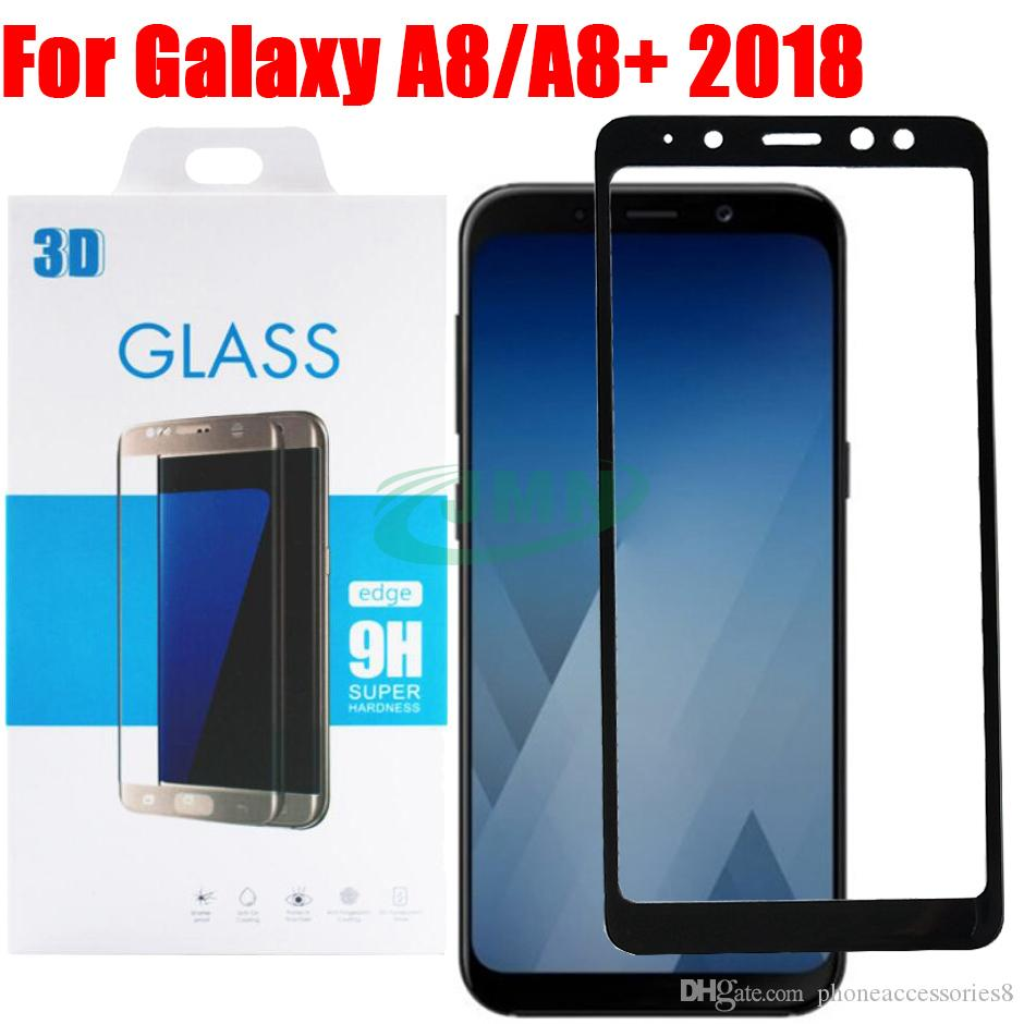 a8 2018 3d curved full cover tempered glass screen protector for samsung galaxy a8 a8 a8plus. Black Bedroom Furniture Sets. Home Design Ideas