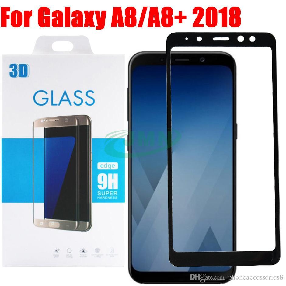 501917b1d Compre A8 2018 3d Curvo Cobertura Completa Protetor De Tela De Vidro  Temperado Para Samsung Galaxy A8 A8 + A8plus 2018 De Phoneaccessories8