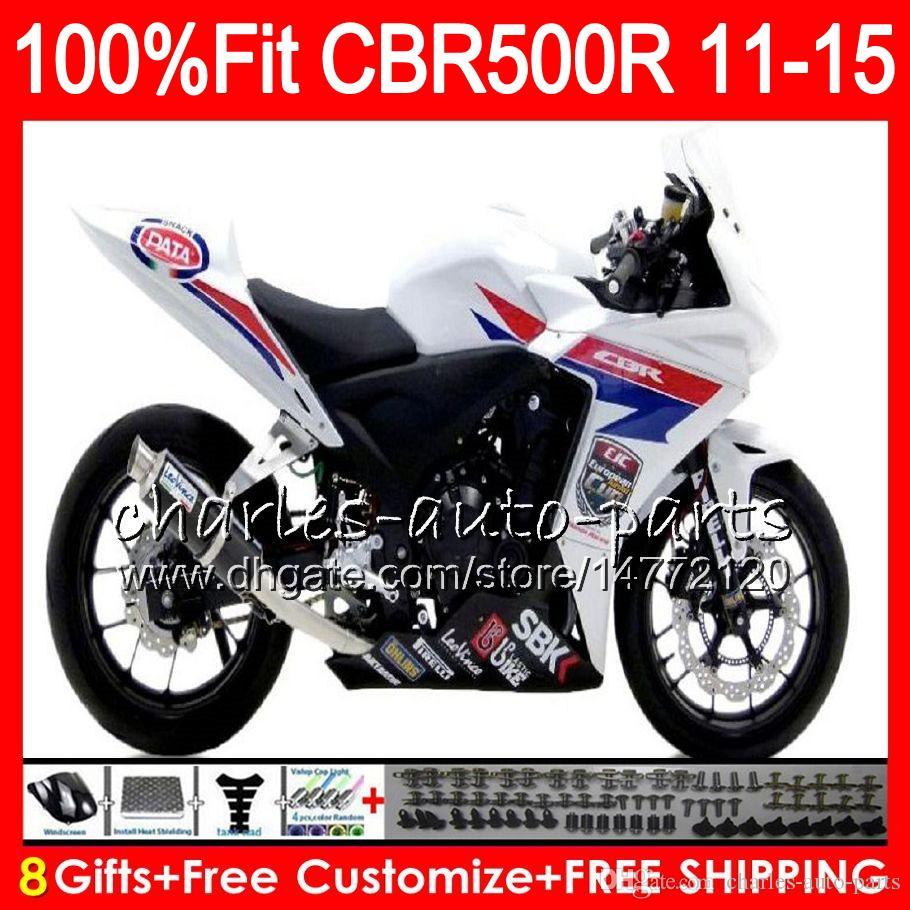 Инъекции для Honda CBR500R CBR500 CBR500RR РР Р 11 12 13 14 15 97NO27 CBR500 Р ЦБР 500р 500RR 2011 2012 2013 2014 2015 белый черный обтекатель