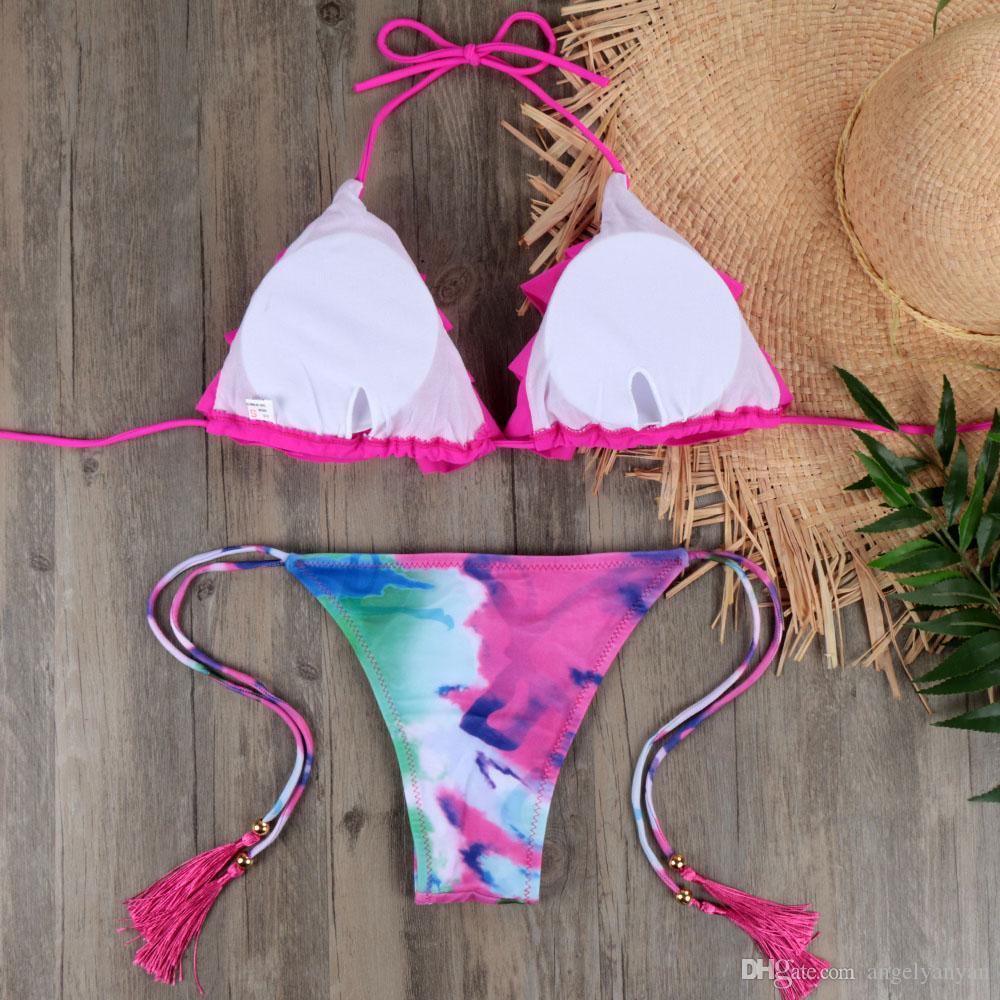 NOUVEAU Brésilien Bikini Set Sexy Push Up Maillots de bain pour femmes Costumes Maillot bain de natation costume pour les femmes Maillot De Bain E045
