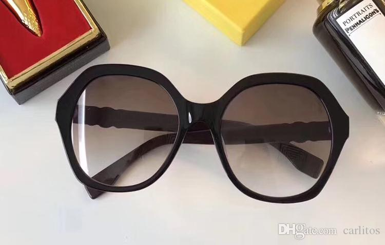 Top quality fashion popular designer women's sunglasses Black frame round Brand Gradient Vintage me sunglasses with original box eyewear