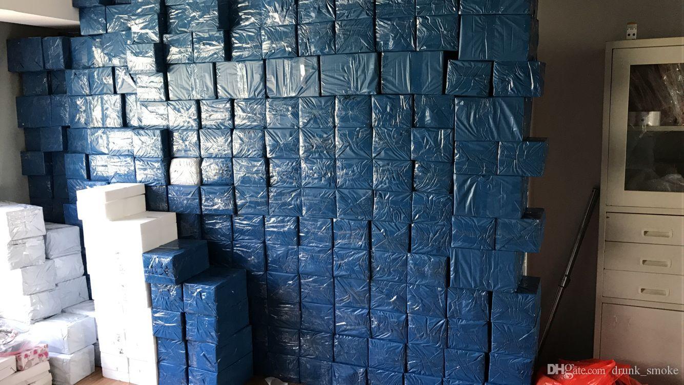 Dab-Rigs Vert Bongs en verre Art-Arbre Percolateurs Bécher Recycleurs 14.4mm Joint Downstem Hauteur 30cm Pipes en verre Handblown Oil Rigs Narguilé