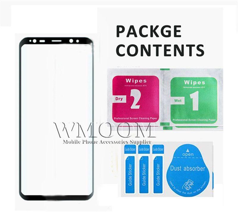 3D Protetor de Tela Curvo De Vidro Temperado Cobertura Completa de Alta Definição Claro Anti-Risco para Samsung Galaxy S8 S8 Além disso nota 8 9