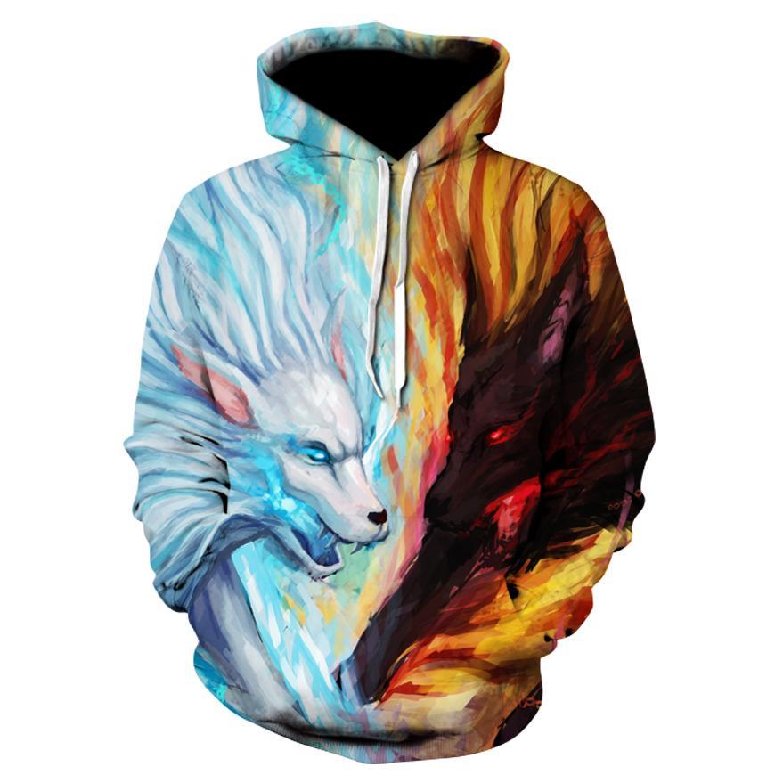 ef9b4babec94 2019 Galaxy Wolf Printed 3D Hoodies Men Brand Hoodie Hot Sale Unisex  Sweathsirts Autumn 6XL Pullover Fashion Tracksuits Boy Jackets From  Firstcloth