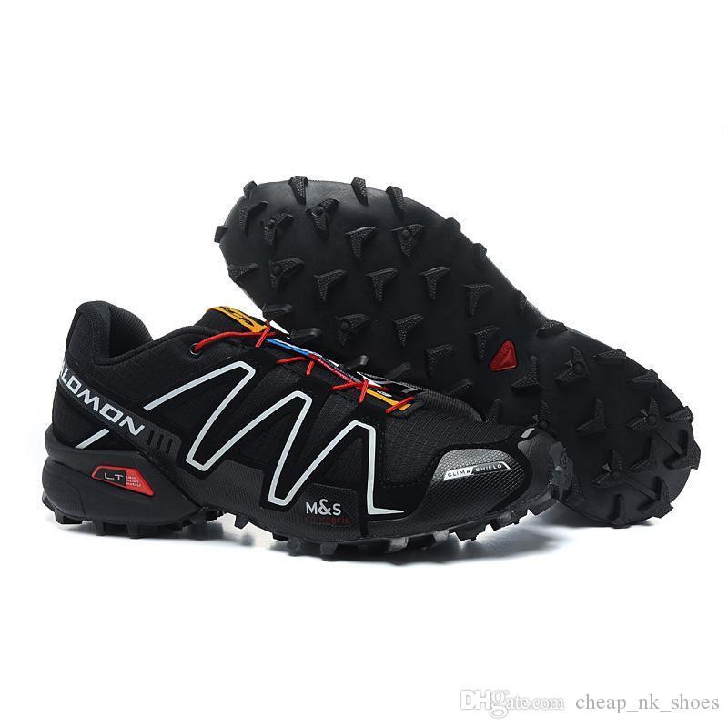 fb94d12bf0ff Salomon Speed Cross III 3 Black White Running Shoes Men Walking Outdoor  Sport Speed Crosspeed 3 Jogging Shoes Sneaker Size 40 46 Barefoot Running  Shoes ...