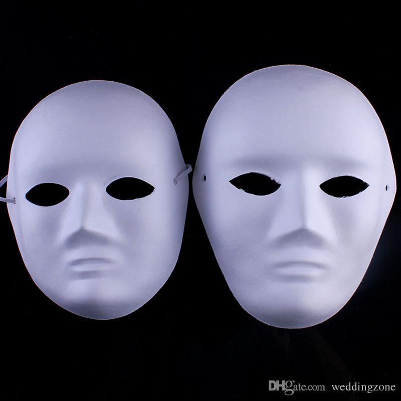Satın Al Diy El Boyalı Maske Tam Yüz çevre Kağıt Hamuru Maskeleri