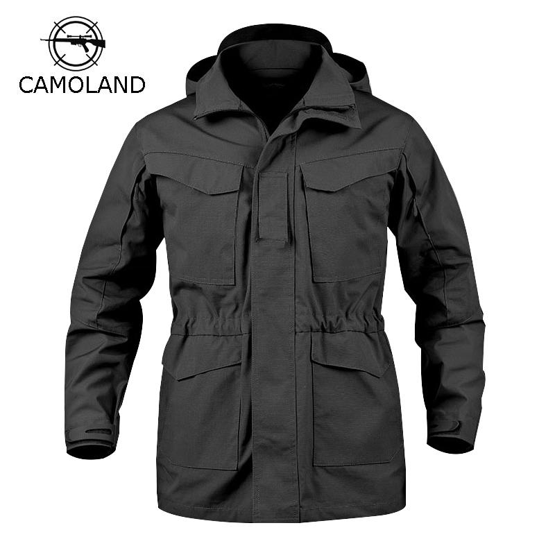 newest 85083 b4d9b 2 Colors Tactical Jacket Men M65 Coat Male Parka Winter Windbreaker  Military Clothes Autumn Army Field Jacket Male Clothing
