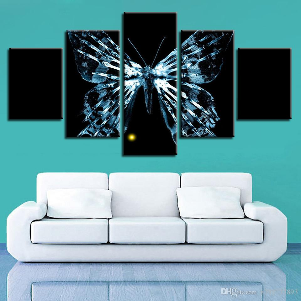 2018 Print Hd Pictures Modular Frame Canvas Abstract Butterfly ...