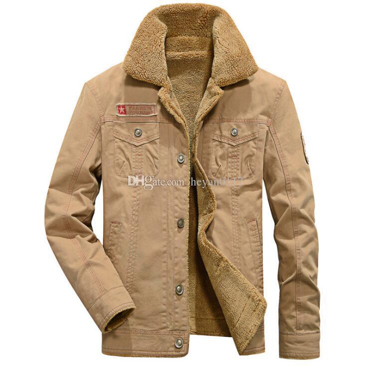 ab7ac6169 Compre 2018 Homens Jaquetas Casacos De Inverno Militar Jaquetas Masculinas  Jaqueta Masculina Moda Jaqueta Jeans Casaco Dos Homens De Heyan0117, ...