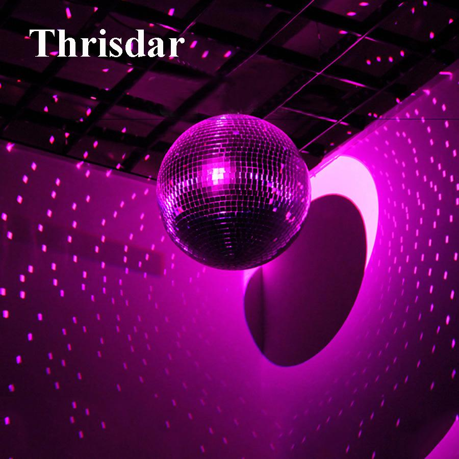 D20cm 25cm 30cm Reflective Glass Rotating Mirror Ball Disco Dj Party Stage Effect Light Reflection Motor Balls 220v Lights Online From