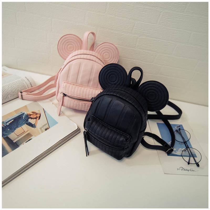 83195359cefc 2019 FashionWomen Leather Backpacks Cartoon Mickey Ears Fashion Mini Casual  Bags For School Students Teenagers Travel Small Cute Child Bag Hunting  Backpacks ...