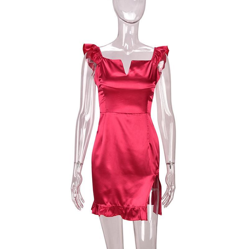 07898705083 Sexy Silk Bodycon Dresses Vestidos Womens Fashion Split Nightclub Cocktail  Party Bodysuits Skinny Dresses Ropa De Mujer WS8821U Online with   36.96 Piece on ...