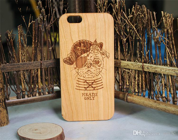 Wooden Laser Engraving Phone Case For iphone X 10 7 8 6s 6 plus Eco-friendly Wood TPU Protective Cover Cases For Samsung Galaxy S9 S8 S7 S6