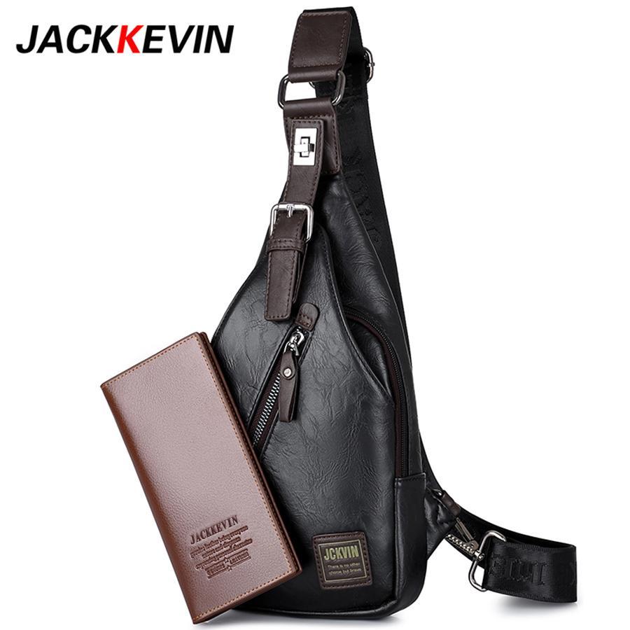 a97c01c608af JACKKEVIN Brand Quality Assurance CHEST BAG MEN Anti Theft Magnetic Clasp Leather  Bag Messenger Fashion Men S Bags Designer Purses Satchel Bags From ...