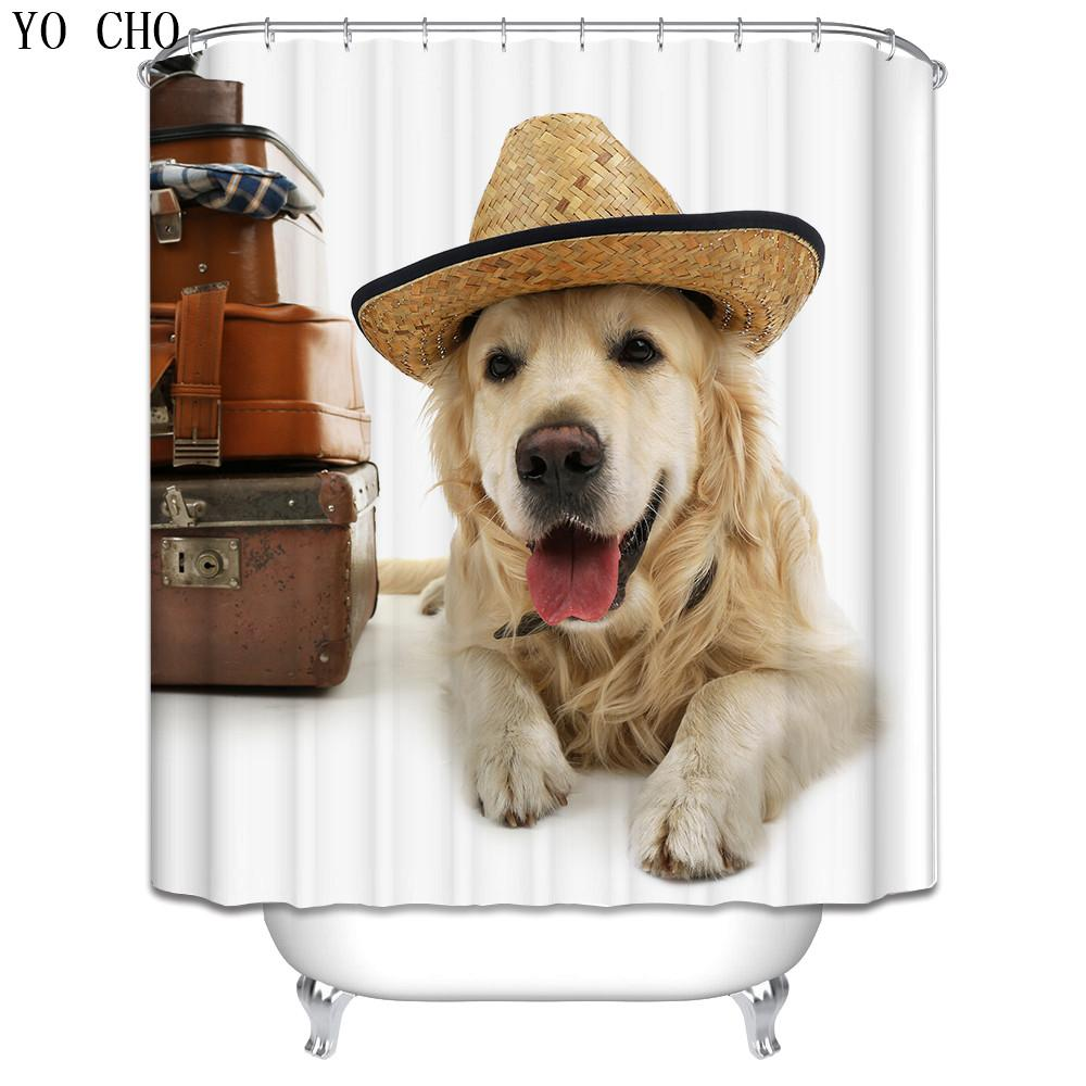 2019 New Funny Dog Shower Curtain 3d Christmas Home Waterproof Fabric Cat Wolf Bath For Bathroom Accessories With 12 Hooks From Hariold