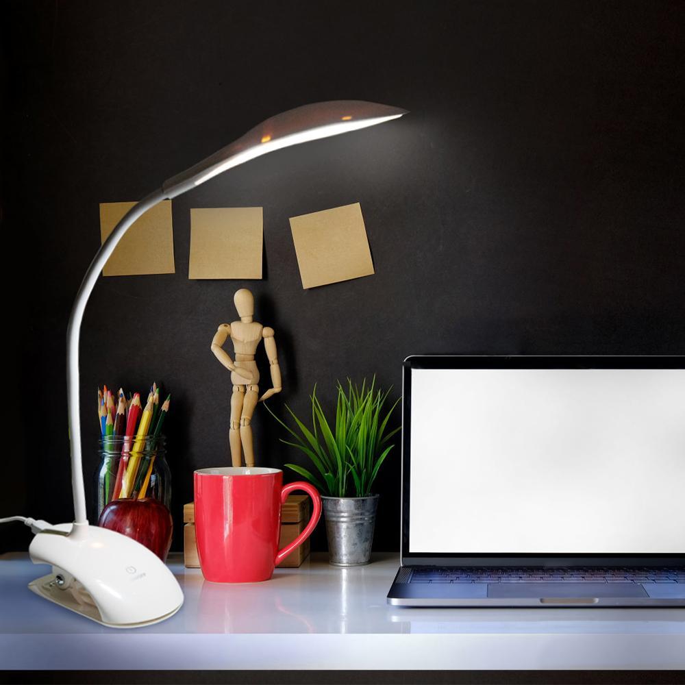 Licht & Beleuchtung Schreibtischlampen Flexible Tisch 14 Leds Lesen Licht Usb Lade Lampen Touch Sensor Dimmbare Lesen Studie Weiß Nachtlicht Schreibtisch Lampe 3 Modus