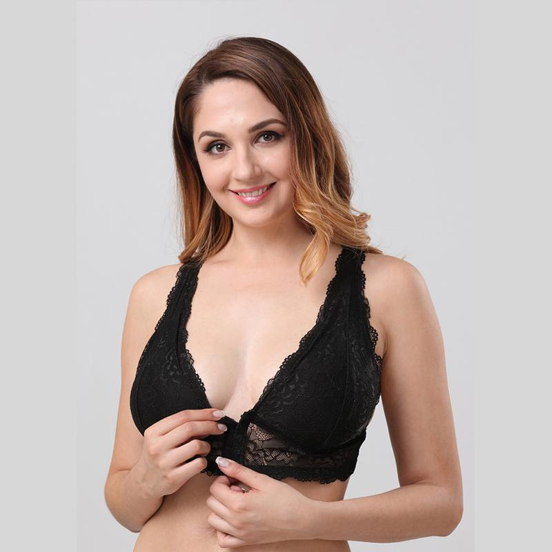 be7b2f611 2019 Plus Size C F Sexy Women Underwear Lace Racerback Bralette Wireless  Bra Women For Backless Wear Brassiere Bustier Bra Lingerie From Ziron