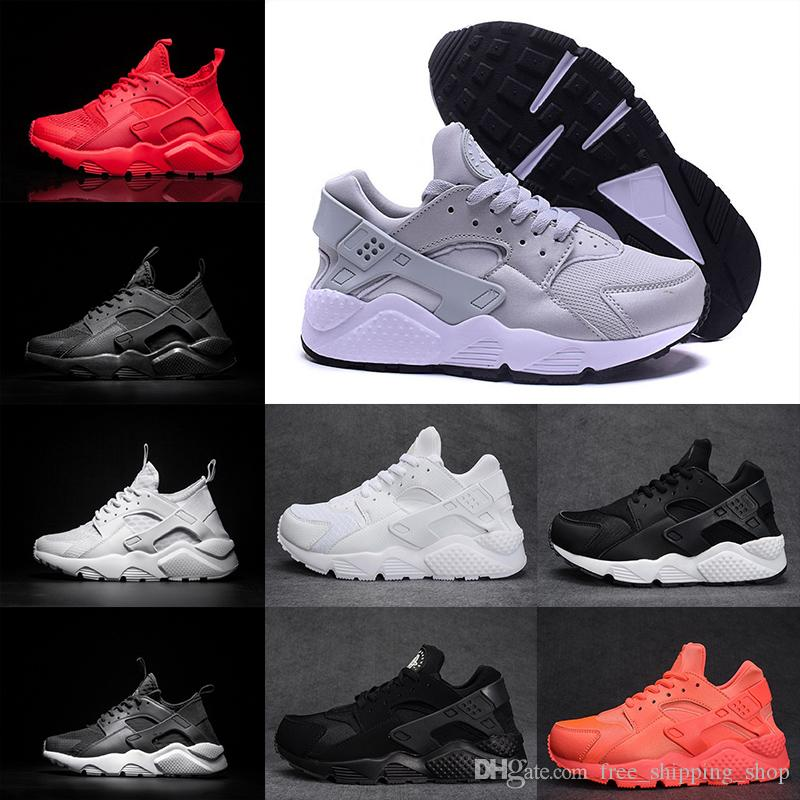 new arrival f77d4 65b46 Air Huarache Run Triple Black White Red Oreo Grey Mens Womens Huarache Shoe  Huaraches Ultra Sport Sneaker Trainer Running Shoes Shoes Men Tennis Shoes  From ...