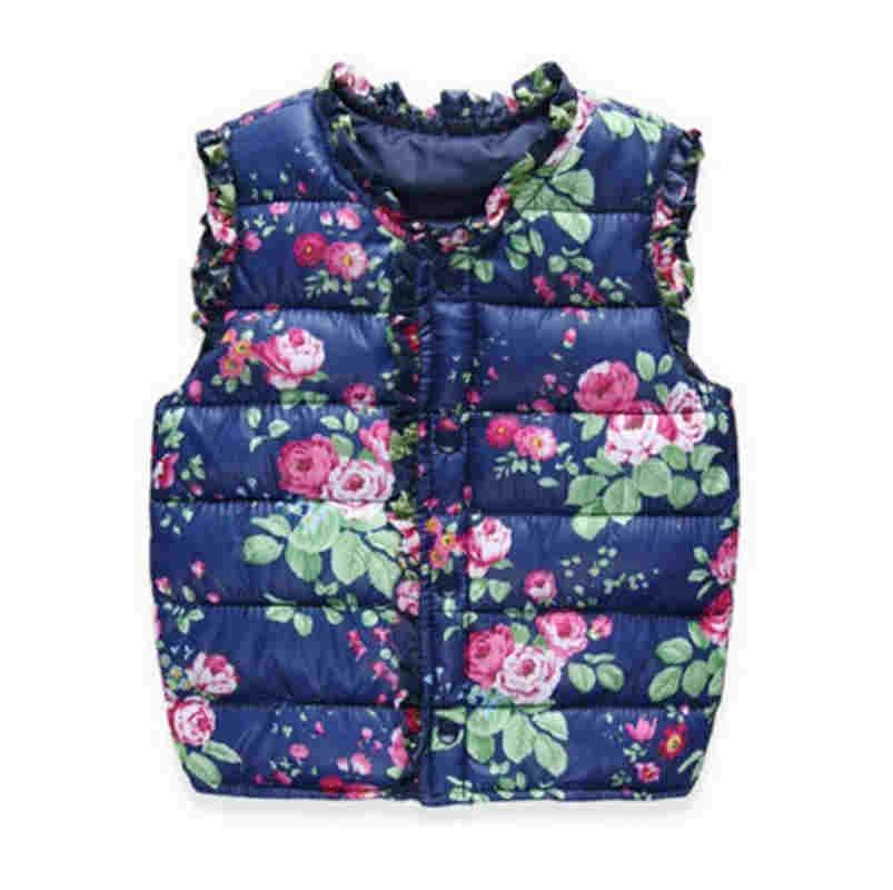 18bfb37aceb6 Cola Girls Kids Vests Children s Down Coon Warm Vest Baby Girls ...