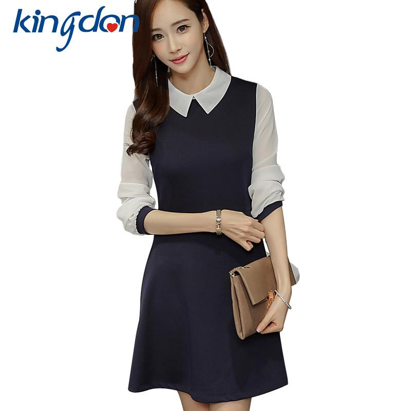 df19f75598009 Satın Al Beyaz Yakalı Kadınlar Ile Yeni Siyah Elbise Beyaz Yakalı Elbise  Kadın Sevimli Çalışma Ofisi Bayan Ve Okul Vestidos Mini Sundress, $25.94 |  DHgate.