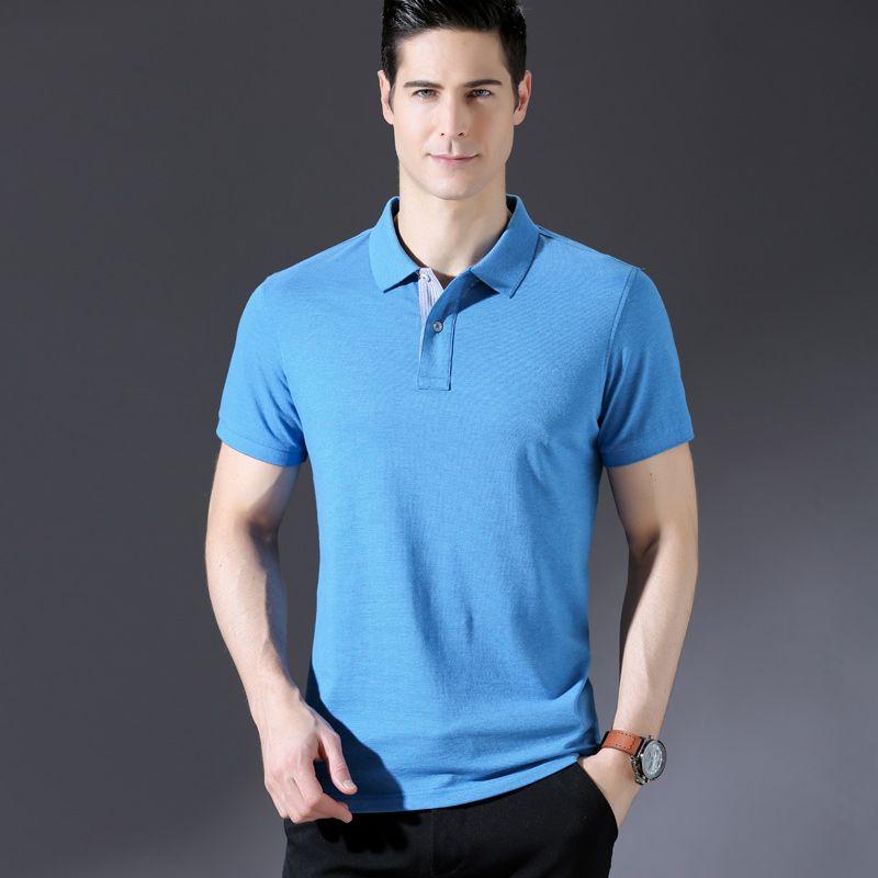 69f0eb3cbd0de New Summer Solid Color Shirt Men's Turn-down Collar Cotton Short Sleeve  Shirt Brand Smart Casual Shirt