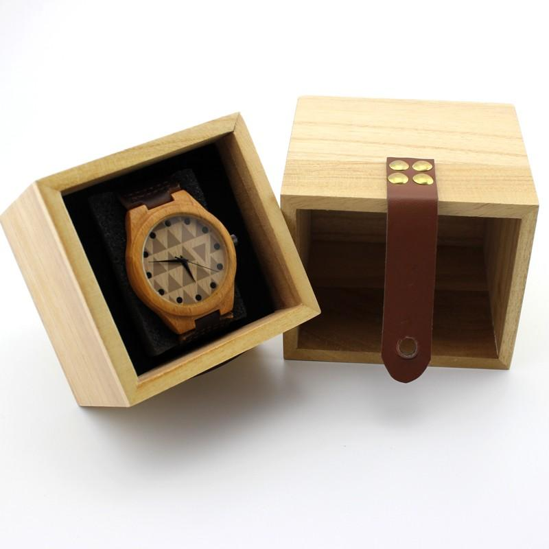 BOBO BIRD Watch Box Solid Wood Primary Colors Wooden Box Top Quality Square Jewelry Set Storage