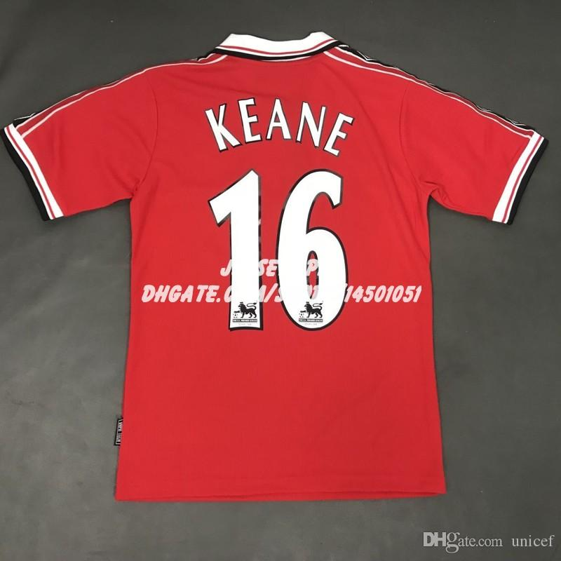 0caea812d4c 2019 Retro Soccer Jersey Old Trafford Camiseta Roy Keane 1998 1999 98 99  Home Red Football Shirts Maillot De Foot Maglia Di Calcio From Unicef, ...
