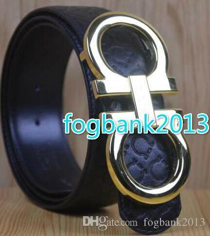 Cinturón de cuero genuino con hebilla grande grande con cinturones de diseñador de caja hombres mujeres cinturones para hombre nuevos de alta calidad cinturón de lujo envío gratis